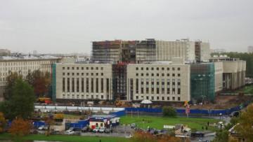 Строительство РНБ на Варшавской