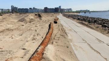 Строительная площадка «Лахта-центра», песчаная насыпь