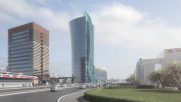 Многоэтажный комплекс «Заневский каскад 3» у метро «Ладожская»