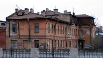 Аварийное дореволюционное здание, набережная Обводного канала, 62, корпус 2