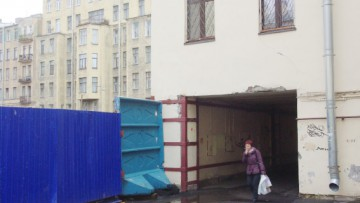 Место строительства церкви Блаженной Ксении Петербуржской на Лахтинской улице, 17