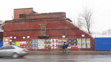 Снесенное аварийное дореволюционное здание, набережная Обводного канала, 62, корпус 2
