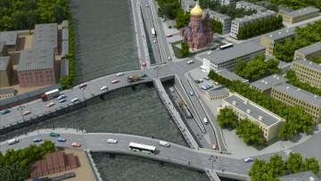 Развязка на набережной Обводного канала, река Екатерингофка, Гутуевский остров, проект, тоннель, мост
