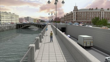 Развязка на набережной Обводного канала и Старо-Петергофском проспекте, тоннели, проект