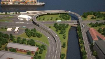 Развязка набережной Обводного канала и проспекта Обуховской Обороны, проект, путепровод