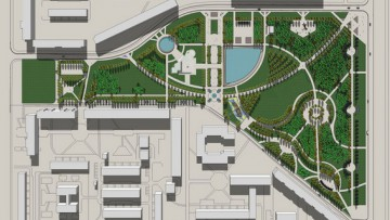 Парк на улице Джона Рида, Бадаева, проект