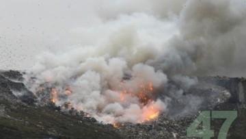 Пожар на свалке под Петербургом