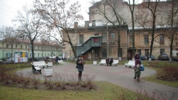 Сквер на углу улицы Марата и Звенигородской улицы