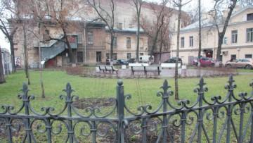 Сквер на углу улиц Марата и Звенигородской