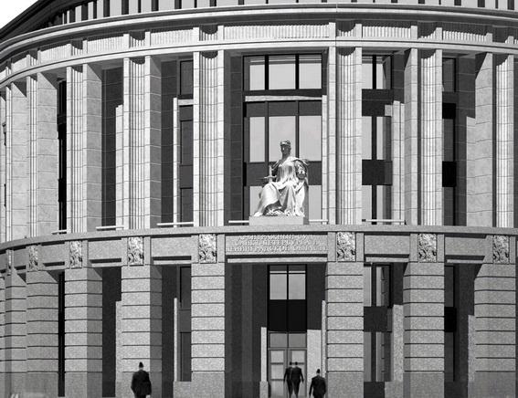 Проект Арбитражного суда Санкт-Петербурга и Ленинградской области на улице Смольного, Смольной набережной