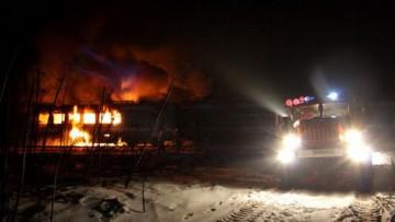 Вечером под Волосовом сгорел вагон ивангородского «дятла»