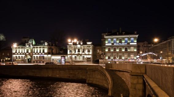 Подсветка Петроградской набережной, подсветка набережной