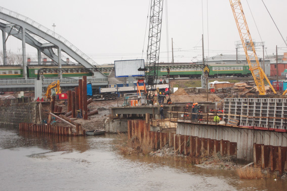 Строительство Ново-Кирпичного моста