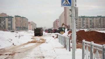 Строительство Богатырского проспекта