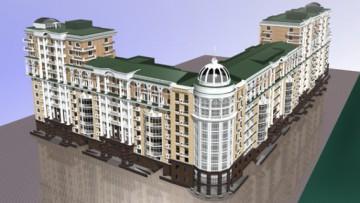 Многоэтажный квартал, набережная Адмирала Лазарева, Глухая, Резная и Малая Зеленины улицы