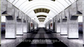 Станция «Путиловская» Красносельско-Калининской линии петербургского метро. Проект