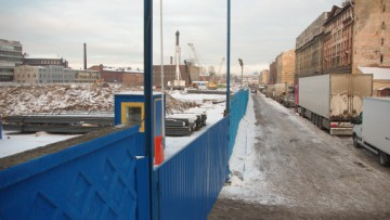 Строительство квартала между улицами Шкапина и Розенштейна