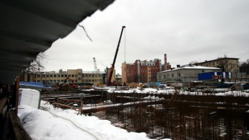 Строительство жилого комплекса Лесная сказка на улица Александра Матросова