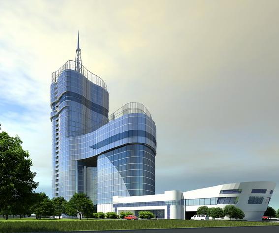 Небоскреб «Морская столица» на Дальневосточном проспекте и Зольной улице