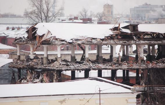 Снос завода «Петмол» на на углу Московского проспекта и набережной Обводного канала