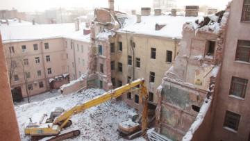 Почти полностью снесенный Дом Шагина, Фонтанка 145