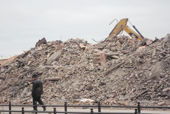 Руины Сталепрокатного завода, квартал между 25-й, Косой и 26-й линиями Васильевского острова