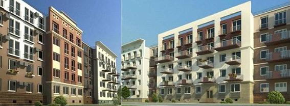 Эскизы домов в микрорайоне Юнтолово у Юнтоловского заказника