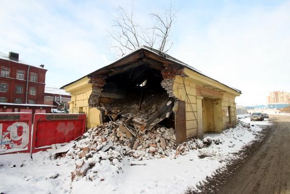 Проходная на Невельской улице, набережная реки Екатерингофки, 25, литера Б, Полюс, разрушенный, снесенный, снос, демонтаж