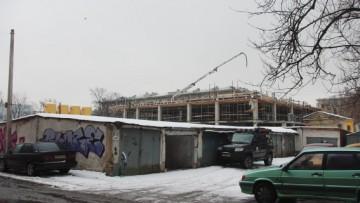 Строительство двенадцатиэтажного бизнес-центра, улица Решетникова, 12