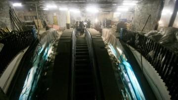 Эскалаторы Невского проспекта, канала Грибоедова