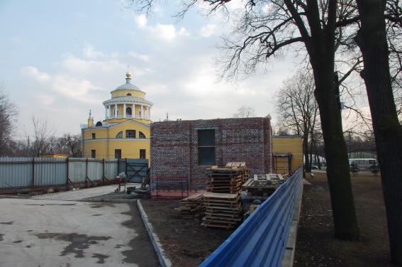 Строительство колокольни при Благовещенской церкви на Приморском проспекте, 79