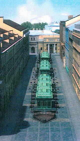 Проект торговых рядов на Малой Садовой улице