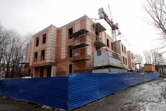 Пушкин, Московская улица, 39, строительство жилого дома