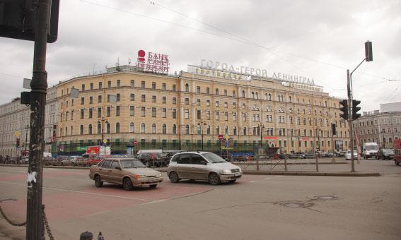 Перекраска гостиницы «Октябрьская»