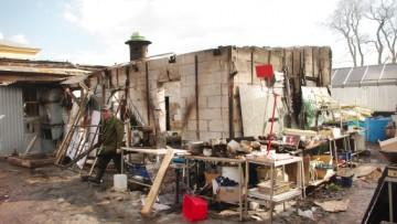 Ресторан «Лето» на территории Петропавловской крепости после пожара