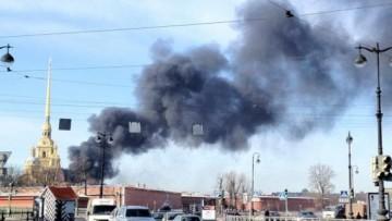 Пожар в Петропавловской крепости