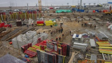 Жилой комплекс «Платинум», строительная площадка