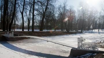 Висячий (Трясучий) мост в Александровском парке Пушкина