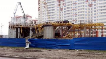 Обрушение паркинга на улице Кржижановского