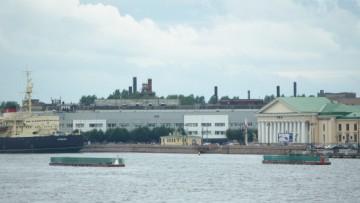 Понтоны-имитаторы Ново-Адмиралтейского моста