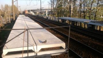Ремонт платформы Аэропорт под строительство пешеходного перехода