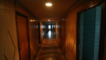 Коридор гостиницы «Речная»