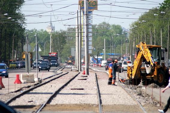 Трамвайные пути на Салова