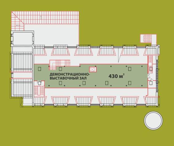 План западного фасада дореволюционной фермы Бенуа на Тихорецком проспекте