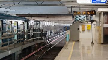 Движение по «синей» ветке метро ограничивали из-за пьяного пассажира