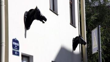 Ветеринарная клиника Центрального района на Коломенской улице, 45, бронзовые скульптуры лошадей