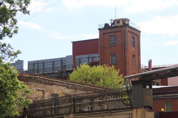 Калинкинский пивоваренный завод на улице Степана Разина