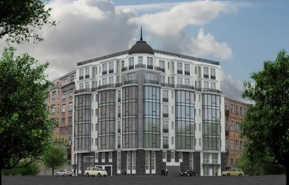 Непостроенное здание на углу Офицерского переулка и улицы Красного Курсанта. Проект