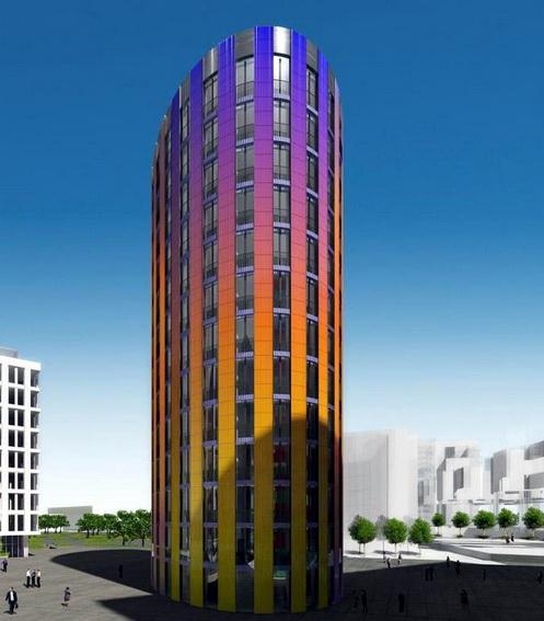 Новый город на Малоохтинском, Перевозном переулке, проект, деловой комплекс