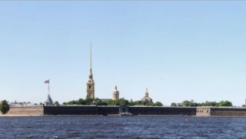 Петропавловская крепость, вид на Лахта-центр